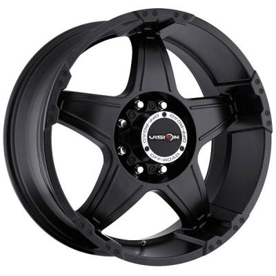 V-TEC WHEELS  WIZARD 395 RWD MATTE BLACK RIM