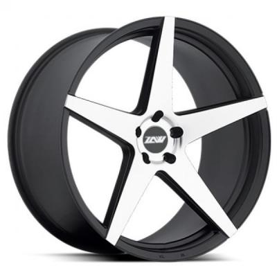 SPECIAL BUY WHEELS  ZOOM CHOCK P59 BLACK RIM with MACHINED FACE PPT