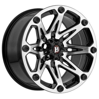 BALLISTIC WHEELS  JESTER 814 GLOSS BLACK RIM with MACHINED FACE