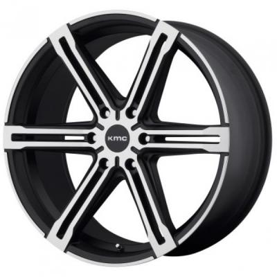 KMC WHEELS  KM686 FACTION SATIN BLACK RIM with MACHINED FACE
