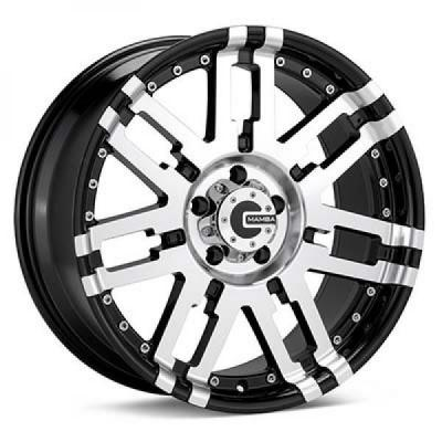 SPECIAL BUY WHEELS  MAMBA M2X GLOSS BLACK RIM with MACHINED FACE PPT