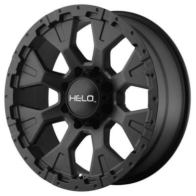 HELO WHEELS  HE878 SATIN BLACK
