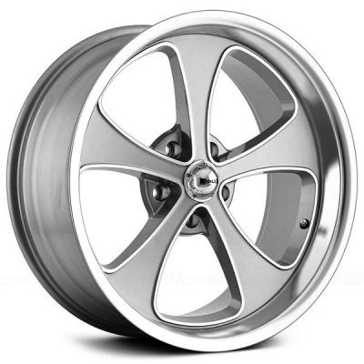 RIDLER WHEELS  STYLE 645 GREY RIM with MACHINED FACE and POLISHED LIP