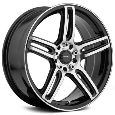 DRIFZ WHEELS  307MB TECH R GLOSS BLACK RIM with MACHINED FACE and LIP EDGE