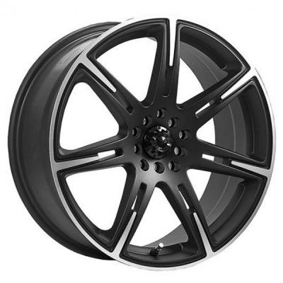 ICW WHEELS  210MB KAMIKAZE CARBON BLACK RIM with MACHINED ACCENTS