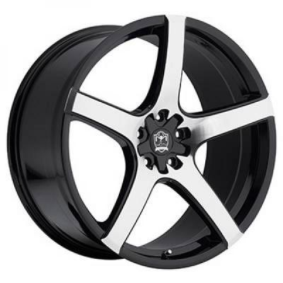 MOTIV WHEELS  410MB MARANELLO GLOSS BLACK RIM with MACHINED FACE
