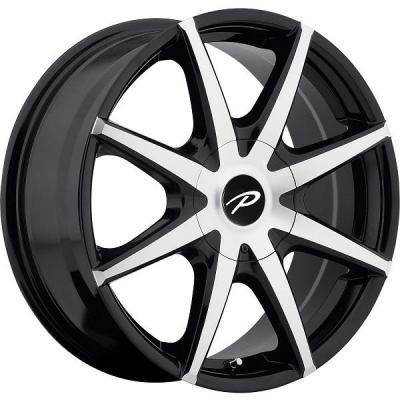 PACER WHEELS  784MB REBEL GLOSS BLACK RIM with MACHINED FACE