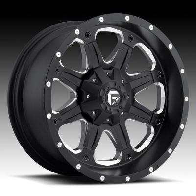SPECIAL BUY WHEELS  FUEL OFFROAD D534 BOOST D534 BLACK/MILLED RIM PPT DISPLAY SET 1 SET ONLY