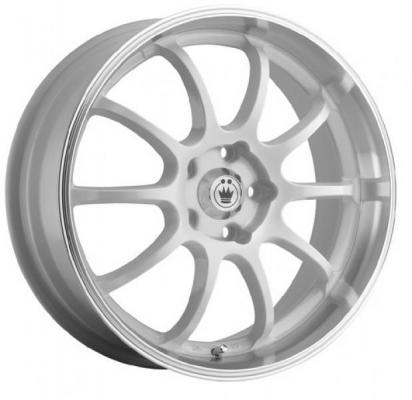 SPECIAL BUY WHEELS  KONIG LIGHTNING WHITE RIM with MACHINED LIP PPT DISPLAY SET 1 SET ONLY