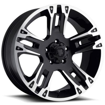 SPECIAL BUY WHEELS  ULTRA MAVERICK 234/235 BLACK RIM with DIAMOND CUT PPT DISPLAY SET 1 SET ONLY