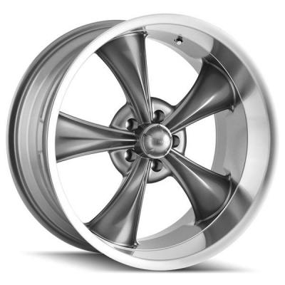 RIDLER WHEELS  STYLE 695 GREY RIM with MACHINED LIP