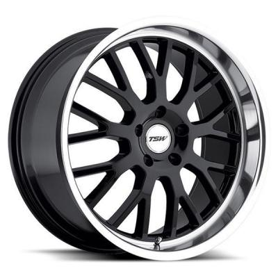 SPECIAL BUY WHEELS  TSW TREMBLANT GLOSS BLACK RIM with MIRROR CUT LIP PPT DISPLAY SET 1 SET ONLY