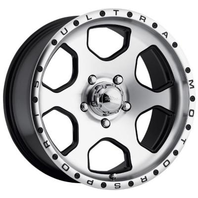 ULTRA WHEELS  ROGUE 175 BLACK RIM with DIAMOND CUT FACE