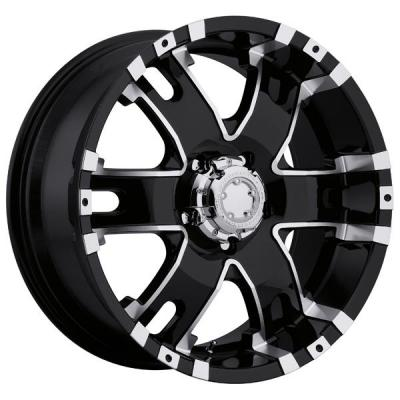 ULTRA WHEELS   BARON 201/202 BLACK RIM with DIAMOND CUT ACCENTS
