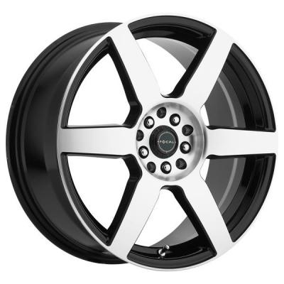 FOCAL WHEELS  F06 444 GLOSS BLACK RIM with DIAMOND CUT FACE