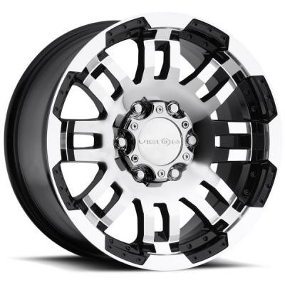 VISION WHEELS   WARRIOR 375 OFF-ROAD GLOSS BLACK RIM with MACHINED FACE