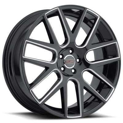MILANNI WHEELS  VIRTUE 9022 GLOSS BLACK RIM with MACHINED FACE