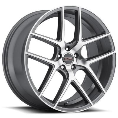MILANNI WHEELS  TYCOON 9052 GRAPHITE RIM with MIRROR MACHINED FACE