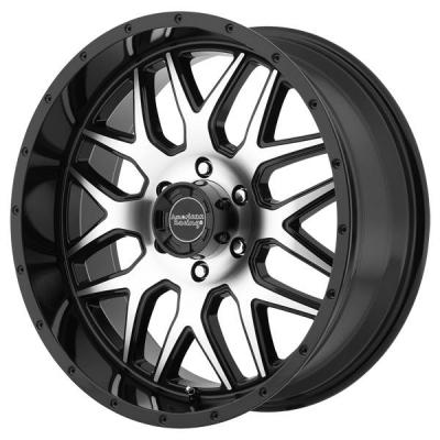 AMERICAN RACING WHEELS  AR910 GLOSS BLACK RIM with MACHINED FACE