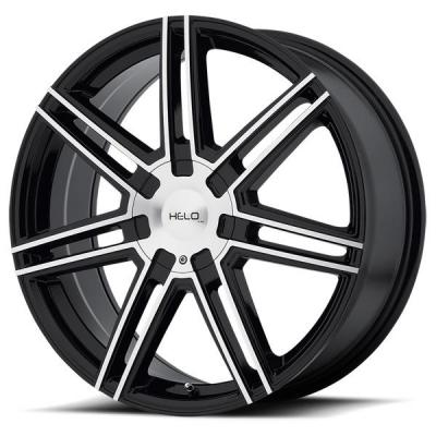 HELO WHEELS  HE884 GLOSS BLACK RIM with MACHINED FACE