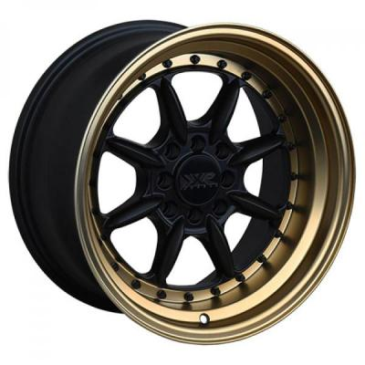 XXR WHEELS  002.5 FLAT BLACK RIM with BRONZE LIP