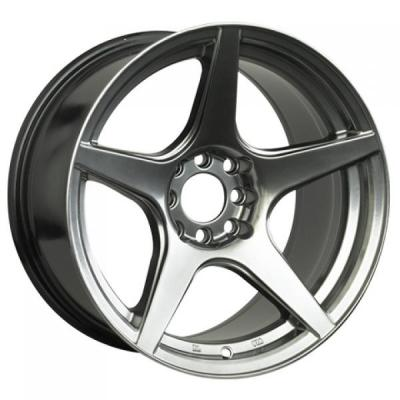 XXR WHEELS  535 CHROMIUM BLACK RIM