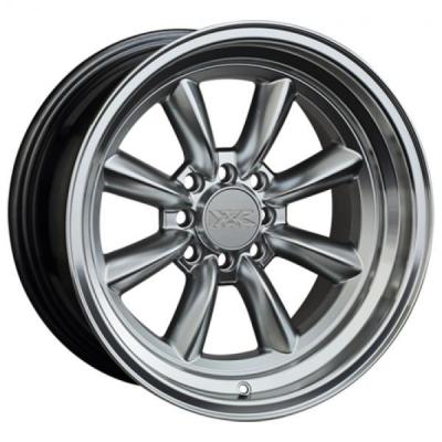 XXR WHEELS  537 HYPER SILVER RIM with MACHINED LIP