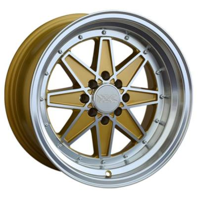 XXR WHEELS  538 GOLD RIM with MACHINED LIP