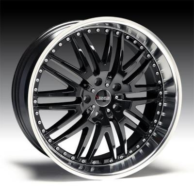 SPECIAL BUY WHEELS  VERSUS ENDURO GLOSS BLACK RIM with DIAMOND LIP DISPLAY SET 1 SET ONLY