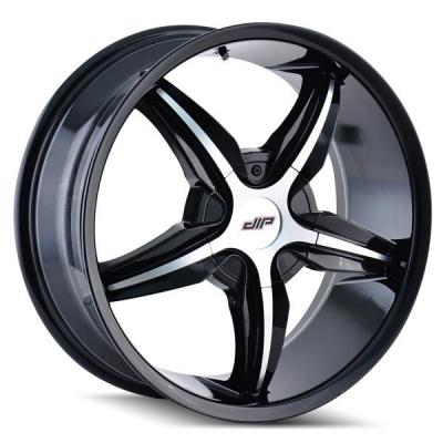 DIP WHEELS  DIPLOMAT D35 BLACK RIM with MACHINED FACE