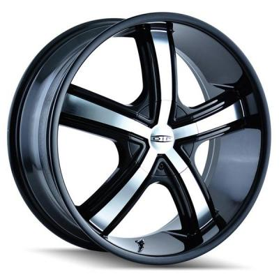 DIP WHEELS  BOOST D69 BLACK RIM with MACHINED FACE