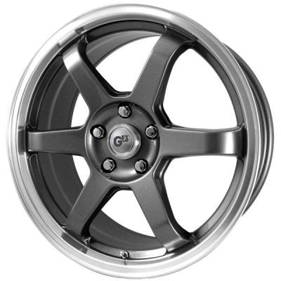 GFX WHEELS  GFX G65 GUNMETAL RIM with MACHINED LIP