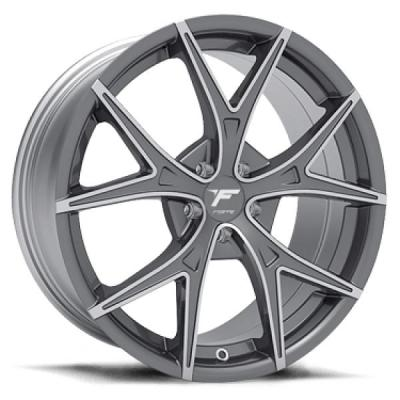 FORTE WHEELS - OCT. SALE!  F73 GT-V CHARCOAL RIM with MACHINED ACCENTS