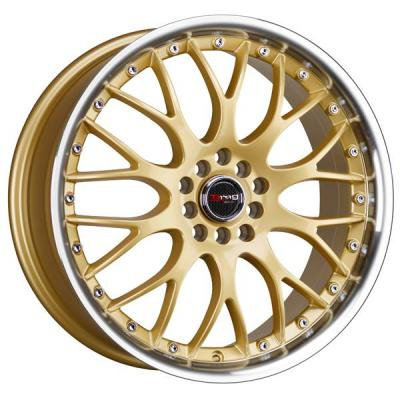 DRAG WHEELS  DR19 GOLD RIM with MACHINED LIP