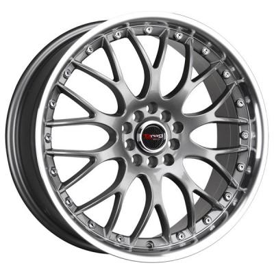 DRAG WHEELS  DR19 GUNMETAL RIM with MACHINED LIP