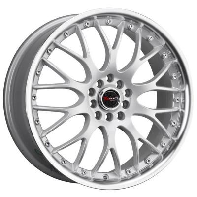 DRAG WHEELS  DR19 SILVER RIM with MACHINED LIP