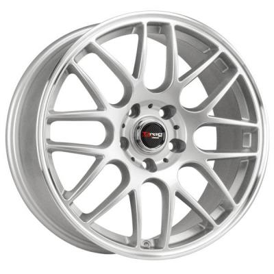 DRAG WHEELS  DR37 SILVER RIM with MACHINED LIP