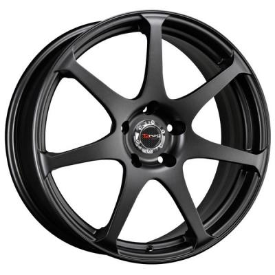 DRAG WHEELS  DR48 FLAT BLACK FULL PAINTED RIM