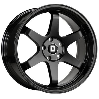 DRAG WHEELS  DR53 FLAT BLACK FULL PAINTED RIM