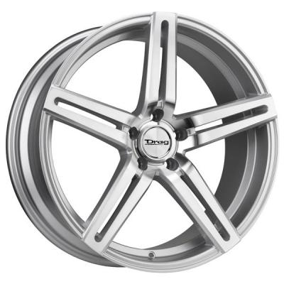 DRAG WHEELS  DR60 SILVER RIM with MACHINED FACE