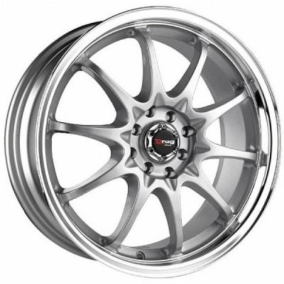 DRAG WHEELS  DR9 SILVER RIM with MACHINED LIP