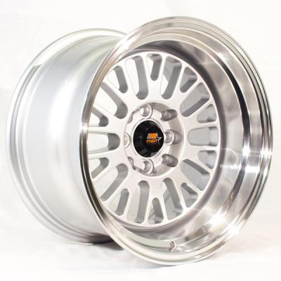 MST WHEELS  MT02 SILVER RIM with MACHINED LIP
