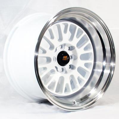 MST WHEELS  MT02 WHITE RIM with MACHINED LIP
