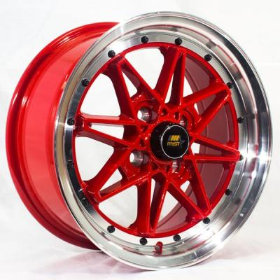 MST WHEELS  MT03 RED RIM with MACHINED LIP