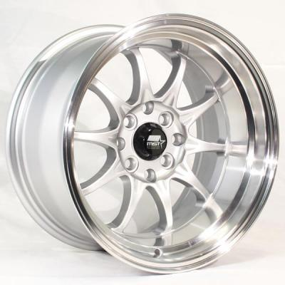 MST WHEELS  MT11 SILVER RIM with MACHINED LIP
