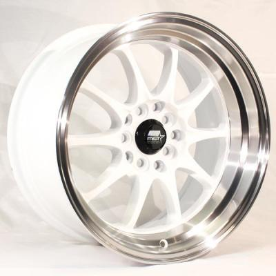 MST WHEELS  MT11 WHITE RIM with MACHINED LIP