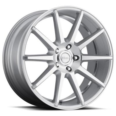 VOXX WHEELS  DANZA SILVER RIM with MACHINED FACE and UNDERCUT