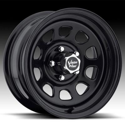SPECIAL BUY WHEELS  VISION D-WINDOW 84 RWD BLACK RIM cap is additional $15 each
