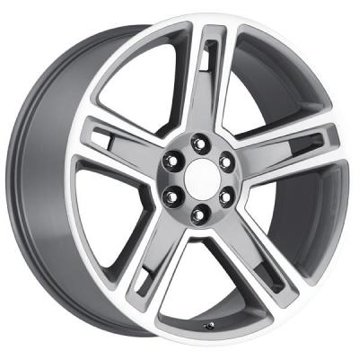 FACTORY REPRODUCTIONS WHEELS  CHEVY 2015 SILVERADO 1500 STYLE 34 GREY MACHINED FACE RIM