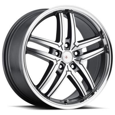 VOXX WHEELS  TORINO GUNMETAL RIM with MACHINED FACE and MIRROR LIP